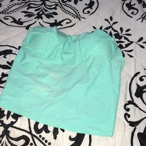 Mint green tankini top